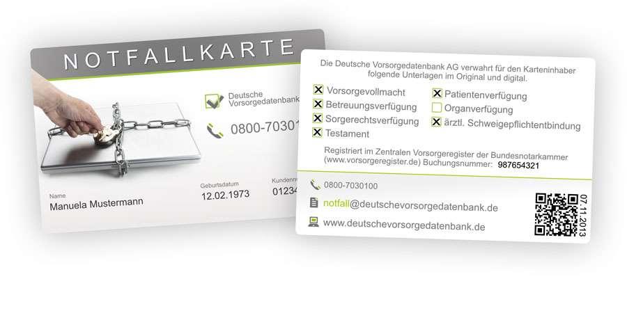 Notfallkarte Bernd Roebers deutsche Vorsorgedatenbank